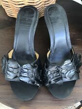 RM Williams Shoes Heels Clogs Black Leather Ladies Size 6.5