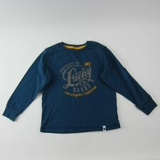Lucky Brand Boys Top Long Sleeve Blue Yellow Gray Los Angeles Graphic Size 4T