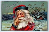 Vintage Postcard Merry Christmas Santa Claus Affectionately Yours HSV 1909