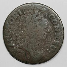 1785 5.1-F.5 R-4 Connecticut Colonial Copper Coin