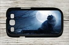 BLACK CAT FULL MOON NIGHT CASE COVER FOR SAMSUNG GALAXY S3 -dre2Z