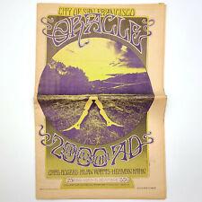 San Francisco Oracle No 12 1968 Psychedelic Underground Newpaper LSD Esalen