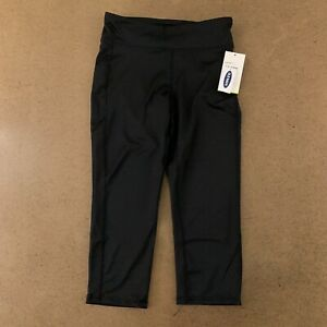 Old Navy Girls Size Large 10/12 Black  Go Dry Shade Short Capri Leggings NWT