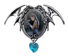 Water Dragon Cameo By Anne Stokes Pendant & Chain Gothic Jewelry Heart
