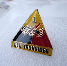 ZP65 US 1st Armoured Division Old Ironsides Tank enamel pin badge