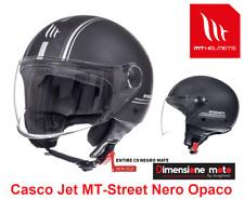 Casco JET con Visiera MT Street-Entire C9 Nero/Argento Opaco Taglia L 59/60 cm