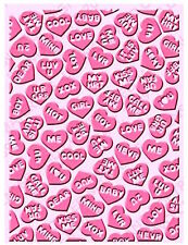 NEW ✿ Candy Love Hearts Large Embossing Folder ✿ For Cuttlebug & Sizzix ✿