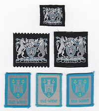 SCOUTS OF BRITISH / UNITED KINGDOM - UK SCOUT ISLE OF WIGHT COUNTY BADGE (6 VAR)