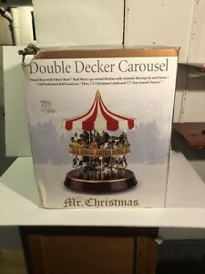 Mr. Christmas Double Decker Holiday Carousel READ DESCRIPTION