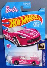 2018 Hot Wheels ~ HW Screen Time ~ Barbie '14 Corvette Stingray ~ #273 ~ Pink