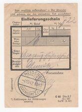 2/233  EINLIEFERUNGSSCHEIN 1942 FLUGZEUGFÜHRERSCHULE HEIDENAU OLMÜTZ MÄHREN
