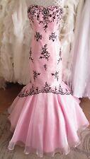 Scarlett designer pink wedding / prom dress UK 12