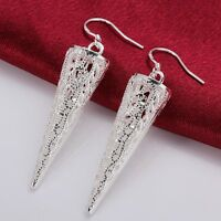New 925 Sterling Silver Filled Vintage Filigree Drop Earrings Antique Style