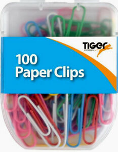 Assorted Coloured Paper Clips - 100 Approx Per Pack - 3cm Long - Free Postage
