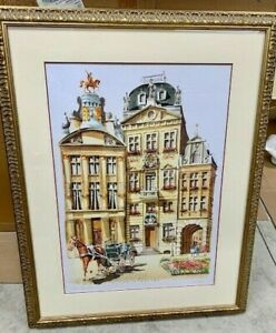 Original Watercolor Painting of Grand Palace in Brussels Belgium by Ziaeian