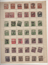 HUNGARY PORTO/TAX OVERPRINT SELECTION OF 42 DIFFERENT STAMPS USED/MH/NO GUM