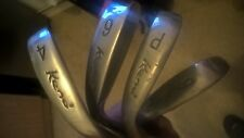Keno Attack Midsize Irons Half Starter Set 4,6,8,PW & SW Reg Steel Shaft gc