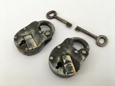 Lock 2 Pic Old Vintage Rare Iron Lock and Key Collectible Aligarh A2