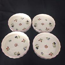 "Set of 4 Petite Fleur Villeroy & Boch 4.5"" Individual Tart Quiche Dishes"