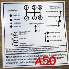 Schaltschema F Unimog 421 403 406 mit Vorschaltgetriebe A50