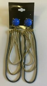 ASOS Blue Stone Chain Drop Earrings - Brand New Without Tags