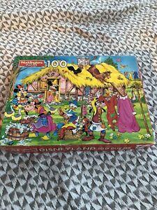 Vintage Waddingtons Disneyland Jigsaw Puzzle 100 Pieces Complete