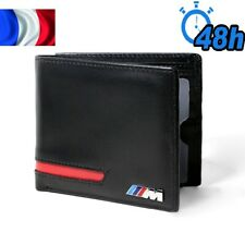 Portefeuille style BMW ///M rouge et noir - porte carte de crédit permis Cuir