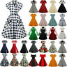 Womens 50s 60s Vintage Style Pinup Swing Club Party Rockabilly Housewife Dress