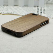 100% Real Natural Black Walnut Wood Wooden Case Cover For Apple iPhone 5 5S SE