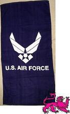 "Beach Blanket Towel Military U S Air Force Emblem 30""x60"" NEW 100% Cotton"