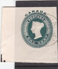 Canada 1c Victoria Postal Stationary Cut Out VGC