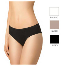 Slip Vita Bassa Bikini con Tassello in Cotone,Donna GOLDEN LADY