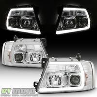 2004 2005 2006 2007 2008 Ford F150 LOBO LED Tube Projector Headlights Headlamps