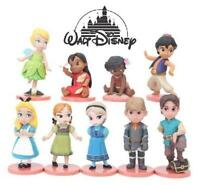 Disney Princess Prince Toddlers 9 Pce Figures Set Lot Cake Toppers Figurines