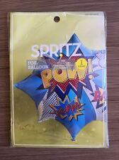 """Spritz Foil Balloon Superhero New 35""""x25"""" Birthday Party Pow Bam Wham"""