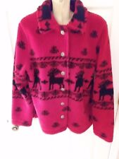 White Stag Christmas Winter Cozy Classic Red & Black Ladies Sweater Size M
