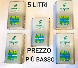 5 Litri Olio Motore Lubrificante per  Auto Selenia Wr Petronas Wide Range 5w40
