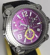 New Mens Renato Vulcan Rare Purple Dial  Swiss Chronograph 45mm Limited Watch