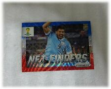 2014 Panini Prizm World Cup Blue Red Wave Net Finders Luis Suarez Uruguay #24