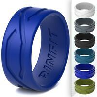 Men's Silicone Wedding Ring/Rubber Band- Unique Patented Design by Rinfit rings