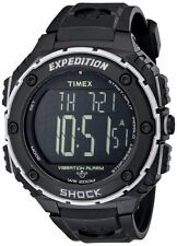 Timex Mens Expedition Shock XL Vibration Alarm Black Resin Watch