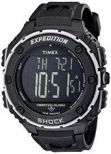 Timex Mens Expedition Shock XL Vibration Alarm Black Resin Watch