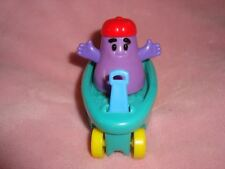 """Grimace In Wagon Fisher Price 1999 Mcdonalds Toddler toy PVC Figure 3"""" tall"""
