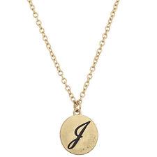 Lux Accessories Script J Initial Personalized Disc Pendant Necklace