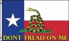Texas DON'T TREAD ON ME State Flag 3x5 ft Gadsden Tea Party DONT Rattlesnake TX