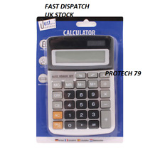 Brand New 8 Digit Desk Calculator Jumbo Large Buttons Solar Desktop Battery