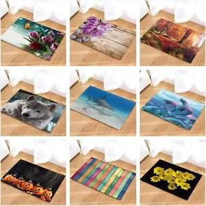 """Wolf Dragon Flower Pumpkin Theme Non Slip Rug Carpet Bathmat Door Mat 16*24"""""""