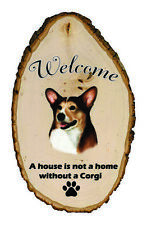 Outdoor Welcome Sign (Tb) - Tri Pembroke Welsh Corgi 51424
