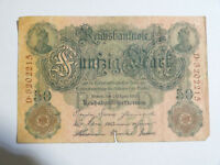 Billet allemand de 50 mark 1910, reichsbanknote ( reich, mark )