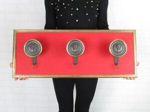 Vintage Hanger Brass Golden & Skin Red Modern Antiques Design 1960